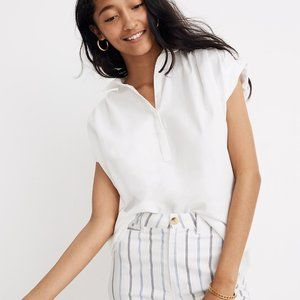 [NWT] Madewell Central Popover Shirt in White